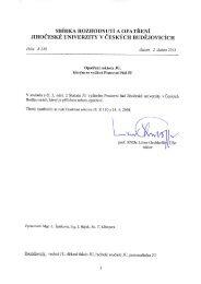 Opatření rektora JU, kterým se vydává Pracovní řád JU