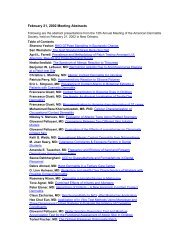 February 21, 2002 Meeting Abstracts - American Contact Dermatitis ...