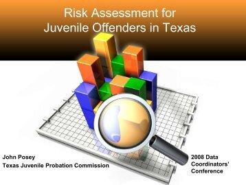 Risk Assessment for Juvenile Offenders in Texas