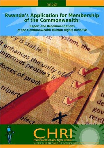 Rwanda's Application for Membership in the Commonwealth