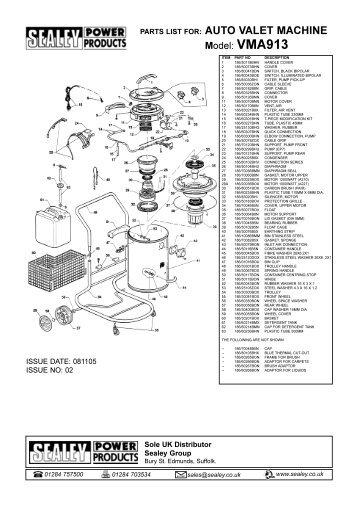 PARTS LIST FOR: AUTO VALET MACHINE - CCW-Tools