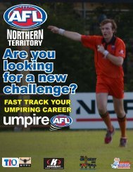 Download the Umpire Recruitment Brochure HERE! - AFL Northern ...