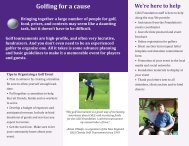 to download the golf tournament fundraiser brochure. - CdLS