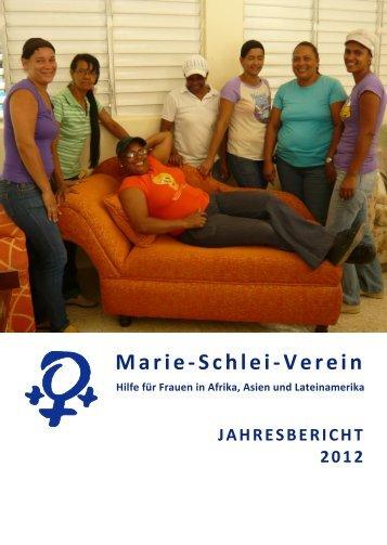 Jahresbericht 2012 - Marie-Schlei-Verein eV