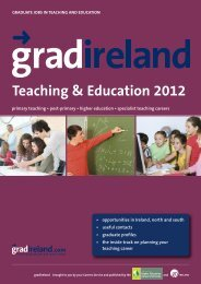 gradireland Guides - Careers in Teaching & Eduation **NEW