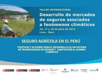 SEGURO AGRÍCOLA EN EL PERÚ - Proyecto de Seguros para la ...
