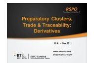 Preparatory Clusters, Trade & Traceability: Derivatives - RT9 2011