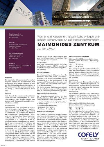 MAIMONIDES ZENTRUM - COFELY Gebäudetechnik GmbH