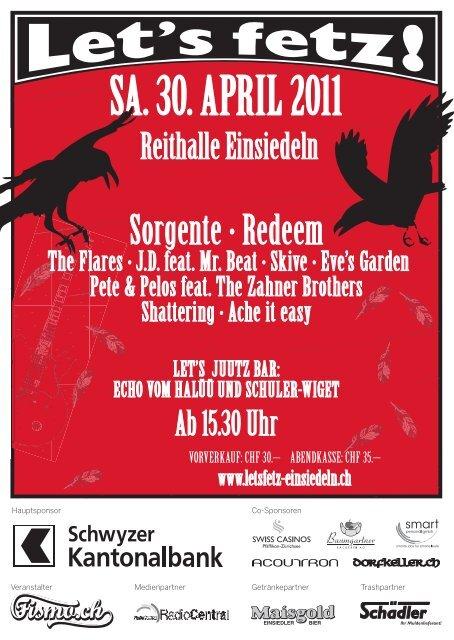 SA. 30. APRIL 2011 - Let's Fetz Einsiedeln