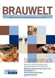 Brauwelt Sonderdruck - Röchling Engineering Plastics
