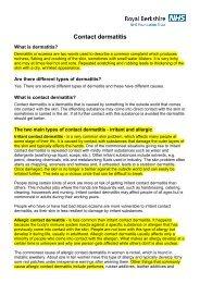 Contact dermatitis - Dr-baumann-international.co.uk