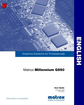 Matrox Millennium G550