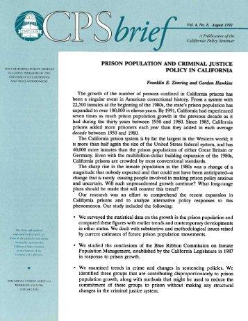 Study on Calif Prisons