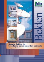 Coaxial Cables for broadband communication networks