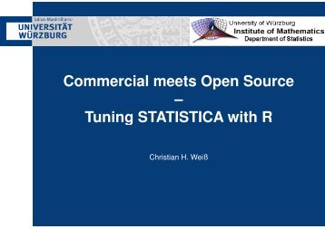 Commercial meets Open Source – Tuning STATISTICA with R