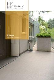 Broschuere einsatzgebiet balkon - WestWood Kunststofftechnik GmbH