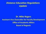 DE Regulations Update, Presentation by Dr. Mike Rogers