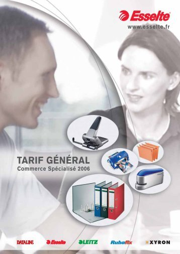 TARIF GÉNÉRAL - Esselte