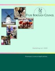 Premises Licence Guidance Notes - Fylde Borough Council