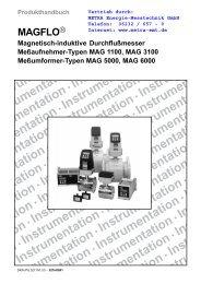 nstrumentation Instrumentation nstrumentation ... - METRA Energie