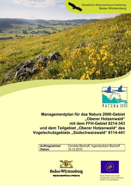 Managementplan für das Natura 2000-Gebiet ... - Hotzenwald LIFE
