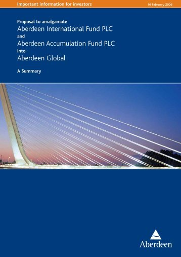 Aberdeen International Fund PLC Aberdeen Accumulation Fund ...