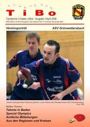 Ausgabe April 2008 - Tischtennis Bezirk Heidelberg