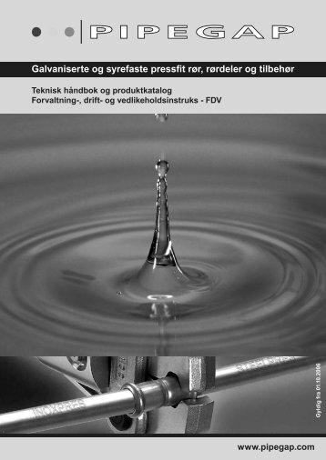 Galvaniserte og syrefaste pressfit rør, rørdeler og tilbehør - PipeGap