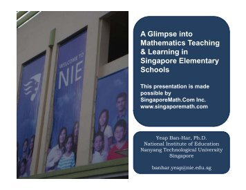 A Glimpse into A Glimpse into Mathematics Teaching & Learning in ...
