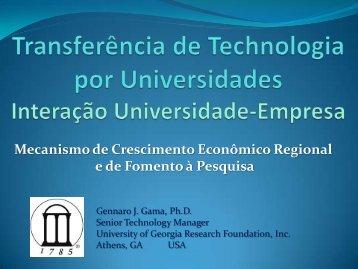 por universidade - CINTEC/UFS