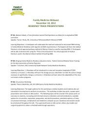 Family Medicine Midwest November 10, 2012 RESIDENCY ... - IAFP!