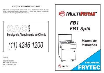 Baixe o manual em PDF: Fritadeira Comercial a Gás - Grupo NestIs