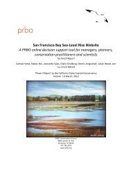 Technical Report - PRBO Conservation Science