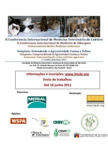 Simpósio: Entendendo a Agressividade Canina e Felina - Zoonoses