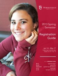 Spring Registration Guide_2013_Layout 2 - Normandale ...