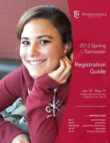 Spring Registration Guide_2013_Layout 2 - Normandale ...