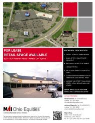 for lease retail space available - Ohio Equities, LLC