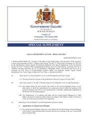 Government Gazette - Division of Local Government