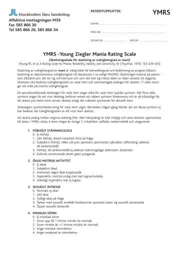 young mania rating scale pdf