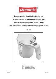 Bruksanvisning för digitalt mått med våg Bruksanvisning for ... - Jula