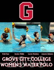 2013 Media Guide - Grove City College