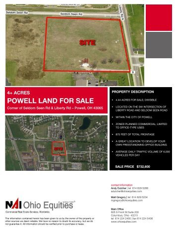 4+ acres powell land for sale
