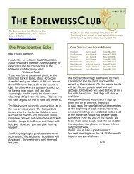 THE EDELWEISSCLUB - German-American Club of Boise, Idaho