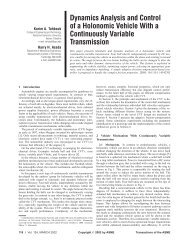 Dynamics Analysis and Control of a Holonomic Vehicle With a ...