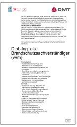Dipl.-Ing. als Brandschutzsachverständiger (w/m) - Audimax