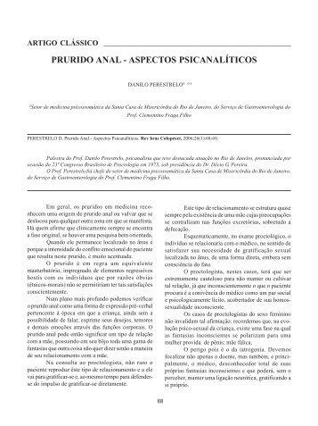 PRURIDO ANAL - ASPECTOS PSICANALÍTICOS - SciELO