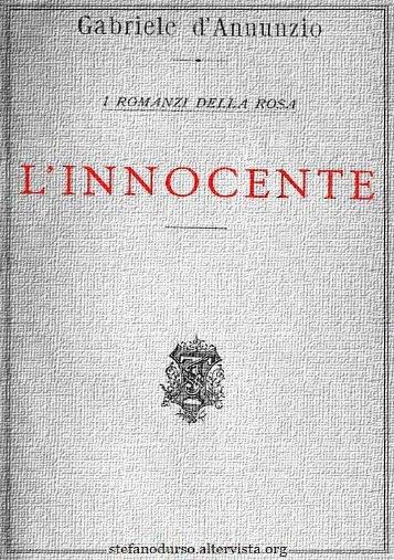 """""""L'innocente"""" di Gabriele D'Annunzio - Altervista"""