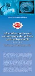 Information pour le suivi endoscopique des patients après ... - SFED