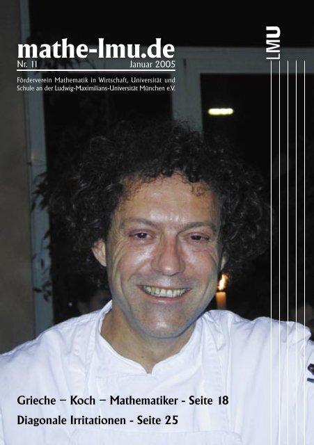 Grieche – Koch – Mathematiker - Seite 18 - Mathematisches Institut ...