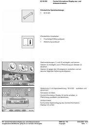RA Central Informations Display aus- und einbauen - Jokin